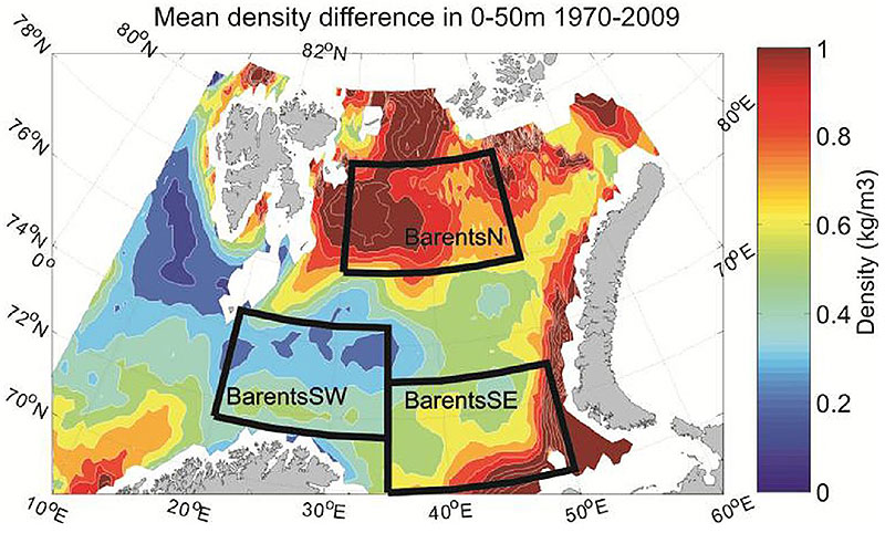 Figure 4.2.9. Mean density difference between 0 and