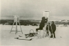 Installment of instruments and meteorological equipment in 1955. Photo: Norwegian Polar Institute